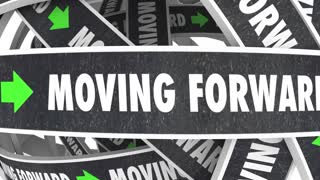 Moving Forward Progress Roads Words Future Achievement