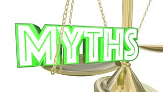 Myths Vs Facts Real Honest Information Scale Words 3 D Animation