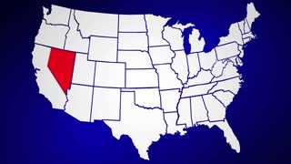 Nevada NV United States of America 3d Animated State Map