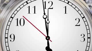 Now Clocks This Moment Time Urgent Word 3d Animation