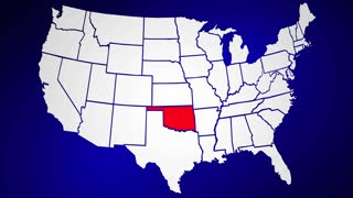 Oklahoma OK United States of America 3d Animated State Map