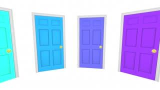 Open Forum Many Doors Public Meeting Words 3d Animation