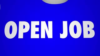Open Job Position Puzzle Fill Hole Gap Animation
