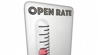 Open Rate Measurement Email Marketing Response 3 D Animation