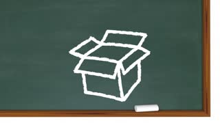 Open Up Your Mind Chalk Board Expand Thinking 3d Animation