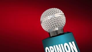 Opinion Microphone Communicate Discuss Public Forum