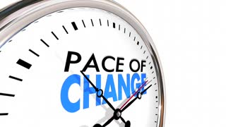 Pace of Change Update Adapt Evolution Clock 3d Animation