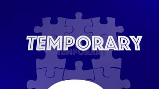 Permanent Vs Temporary Solution Problem Solved Puzzle 3 D Animation