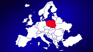 Poland Europe Country Nation Map Zoom In Close Up Geography