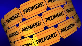 Premiere Tickets New Movie Product Launch Announcement 3d Animation