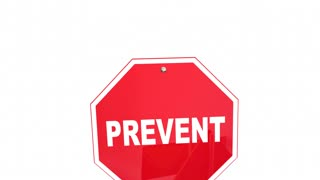 Prevent Protect Preserve Road Street Signs Safety Security 3 D Animation