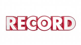 Record Breaker Top Score Best Result Word 3d Animation