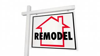 Remodel Home Must See For Sale Sign House 3 D Animation