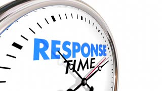Response Time Clock Fast Speed Service Attention 3d Animation