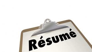 Resume Apply Job Skills Education Experience Checklist 4K