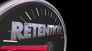 Retention Level Rising Improvement Speedometer 3d Animation