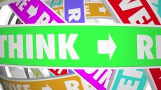 Rethink Reinvent Reimagine Reset Words Loops 3d Animation