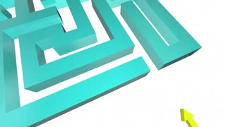 Rethink Your Strategy New Plan Maze Sign 3 D Animation