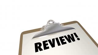 Review Clipboard Checklist Evaluation Words 3d Animation