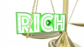 Rich Vs Poor Have Or Not Scale Balance Class Warfare 3 D Animation