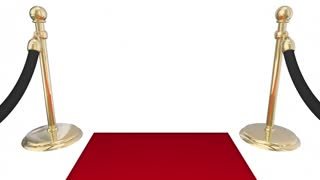 Rich Word Wealthy Money Red Carpet Special Treatment 3d Animation