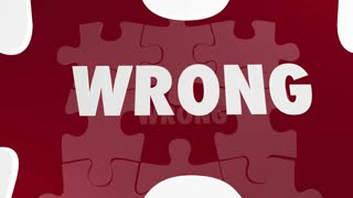 Right Vs Wrong Correct Accurate Puzzle Pieces 3d Animation
