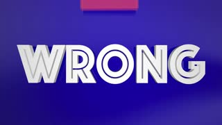 Right Vs Wrong Correct Fair Arrow Words 3 D Animation