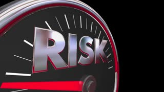 Risk Level Rising Danger Warning Speedometer 3d Animation
