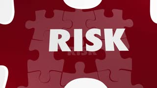 Risk Vs Safe Dangerous Security Puzzle Piece 3d Animation