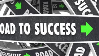 Road To Success Achieve Goal Succeed 3 D Animation