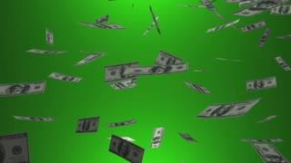 Saving for Retirement Money Cash Falling Animation
