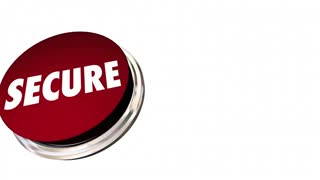 Secure Safety Protection Crime Prevention Button 3d Animation
