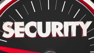 Security Safety Danger Level Rising Speedometer 3 D Animation