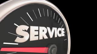 Service Fast Speedometer Quick Responsive 3d Animation