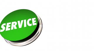 Service Good Preferred Best Company Business Green Button 3D Animation