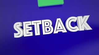 Setback Career Job Employment Promotion 3 D Animation