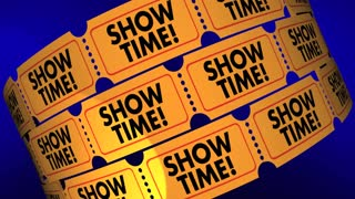 Showtime Movie Tickets Play Performance Admission 3d Animation