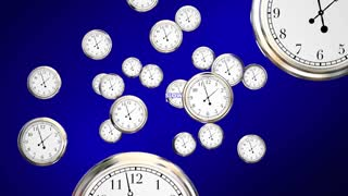 Slow Down Clocks Time Passing Words 3d Animation