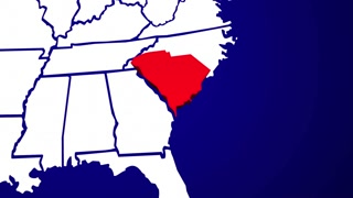 South Carolina SC United States of America 3d Animated State Map