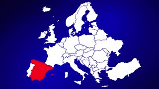 Spain Europe Country Nation Map Zoom In Close Up Geography