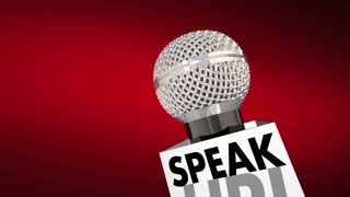 Speak Up Microphone Share Opinion Comments Viewpoint