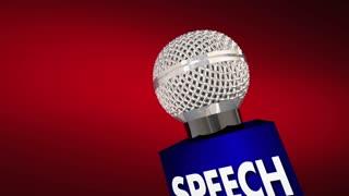 Speech Microphone Public Speaking Deliver Keynote Address