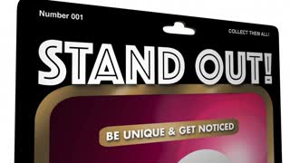 Stand Out Be Unique Person Best Action Figure 3 D Animation