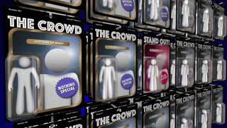 Stand Out From Crowd Action Figure People Advantage 3 D Animation