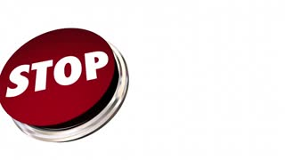 Stop Red Round Button End Cease Word 3d Animation