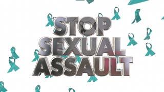 Stop Sexual Assault Rape Violence Against Women Ribbons Awareness