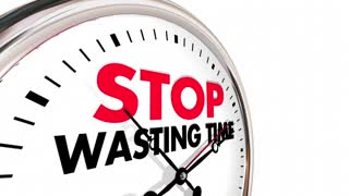 Stop Wasting Time Clock Lost Minutes Hours 3d Animation