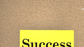 Success Equals Work Plus Luck Bulletin Board Saying 3d Animation