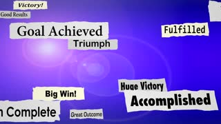 Success Headlines Goal Achieved Winning Results