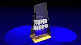 Super Hero Prize Award Winner Words 3d Illustration